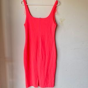 Zara pink large mini tank bodycon dress